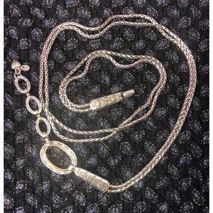 BRIGHTON 2 Tone Adjustable Rope Chain Belt